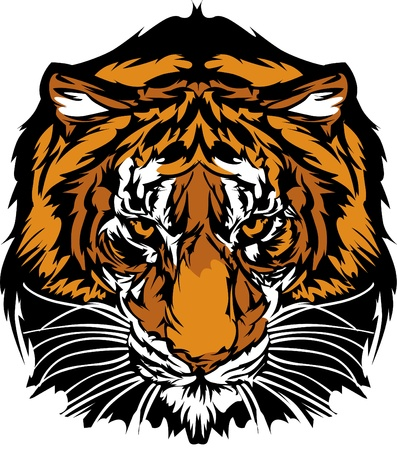 Tiger Head Graphic Mascot Logo Vector