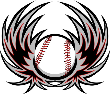 wing logo: Baseball with Wings