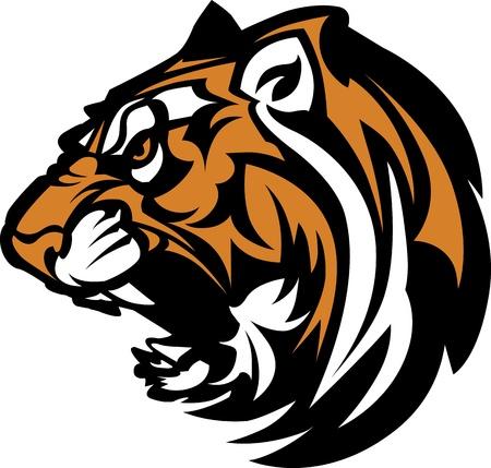 bengals: Tiger Mascot Graphic Illustration