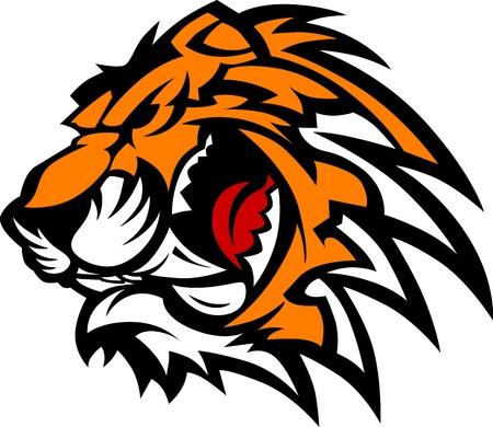 Tiger mascotte afbeelding Stock Illustratie