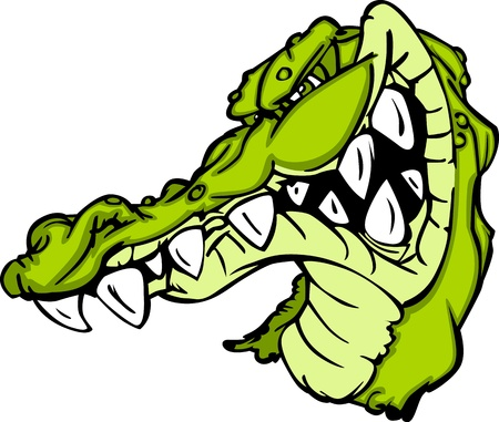 Gator or Alligator Mascot Cartoon Vector