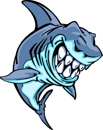 jaw: Shark Mascot Cartoon Image