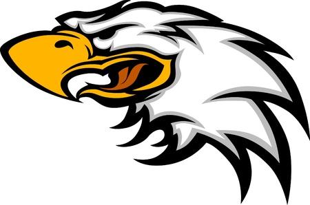 Eagle Mascot Hoofd Grafische