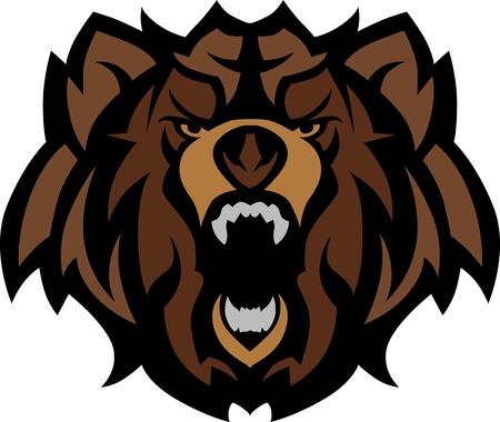 kodiak: Oso Grizzly mascota cabeza gr�fico Vectores
