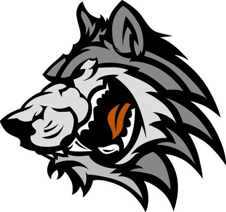 snarling: Wolf Mascot Graphic