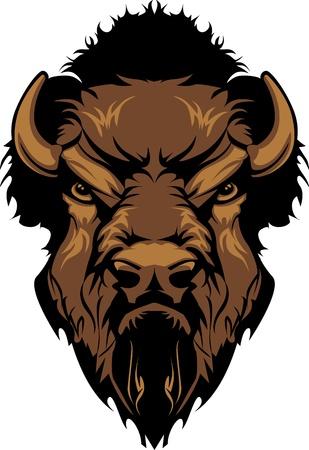 Bison Buffalo Head Mascot graphique