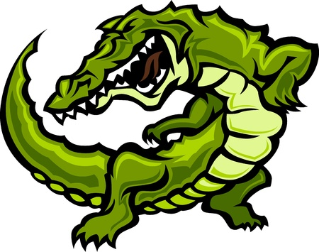 Gator or Alligator Mascot Body Graphic Stock fotó - 10369953