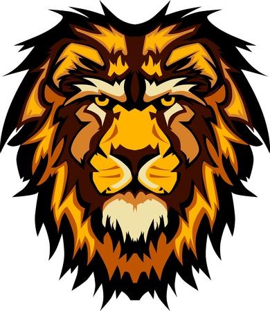 사자 머리 그래픽 마스코트 로고