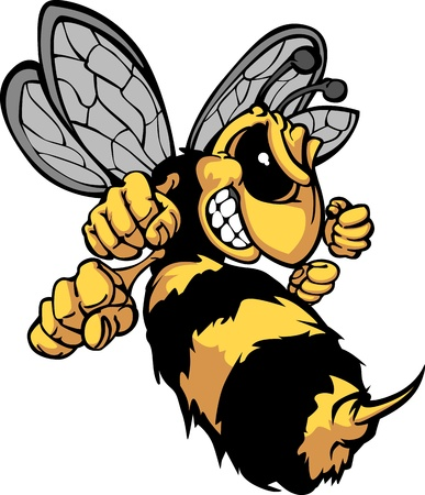 an insect sting: Bee Hornet Cartoon Image