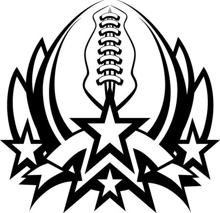 campeonato de futbol: Plantilla gr�fico de f�tbol con estrellas