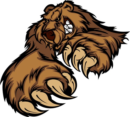 grizzly: Grizzly Bear Mascot Body with Paws and Claws