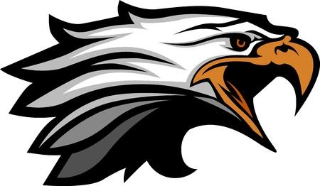 Cabeza de la mascota de un águila