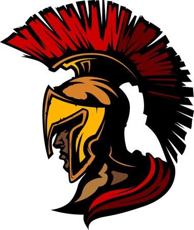 Centurione romano mascotte testa con casco