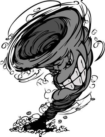tornado: Storm Tornado Mascot   Illustration