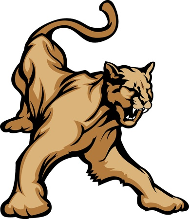 Cougar Mascot Body  Stock Vector - 10457688