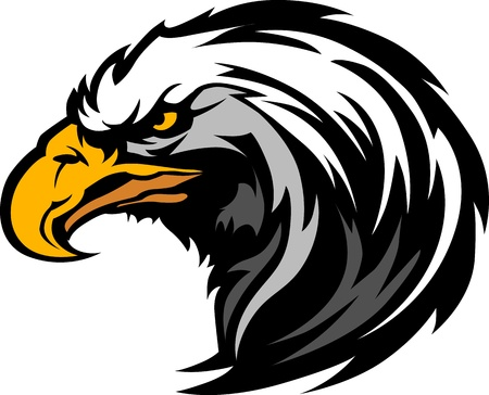 eagle feather: Graphic Head of an Eagle Mascot