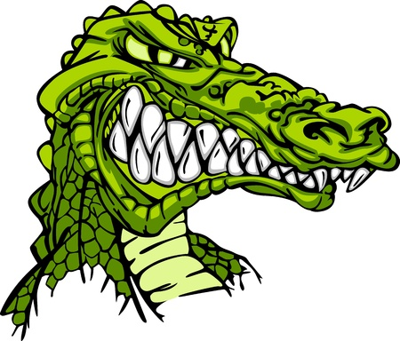 Alligator Mascot  Vector