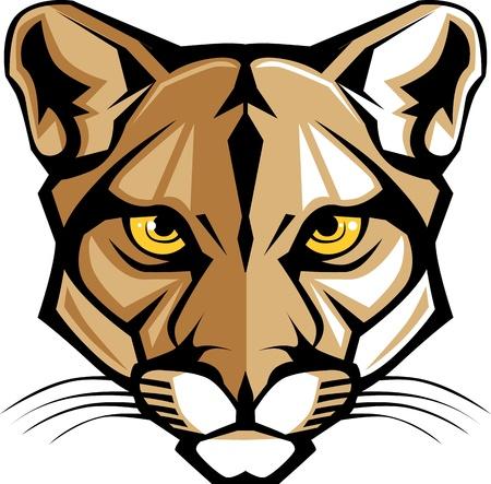Puma Pantera mascota cabeza gráfico