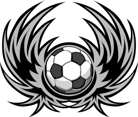 futbol: Soccer Template with Wings