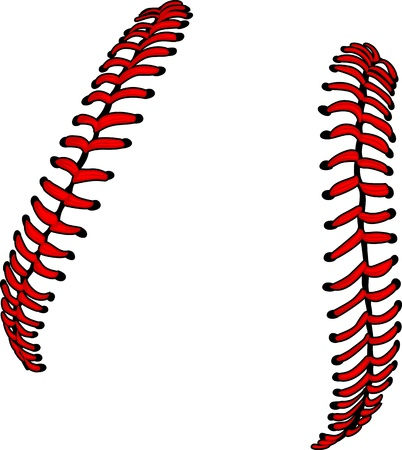 softbol: Cordones de b�isbol o imagen vectorial de cordones de Softball