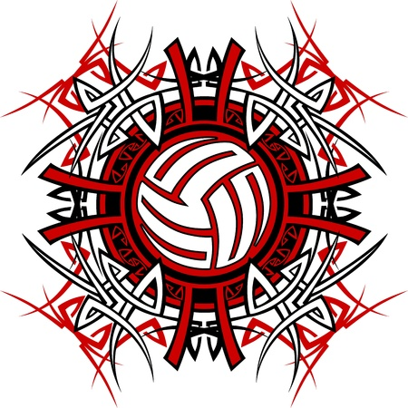volleyball: Volleyball Tribal Graphic Image