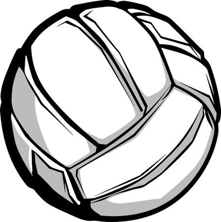 Imagen vectorial de voleibol