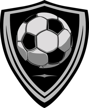 Modèle de football avec bouclier Banque d'images - 10780336