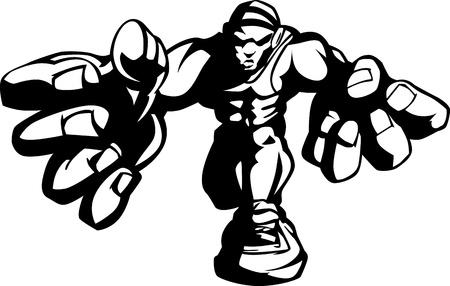 Wrestler Cartoon Afbeelding