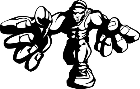 school sports: Wrestler Cartoon Image Illustration