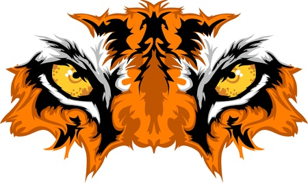 bengal: Tiger Eyes Mascot Graphic