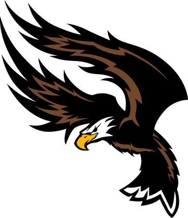 Flying Eagle Wings Mascot Design Vector