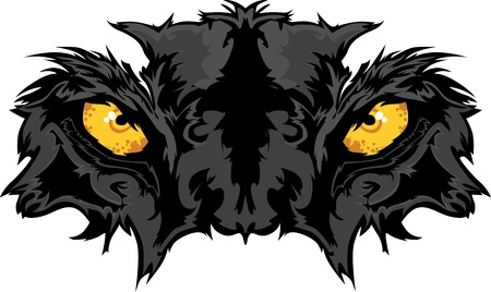 black panthers: Graphic Team Mascot Image of Panther Eyes