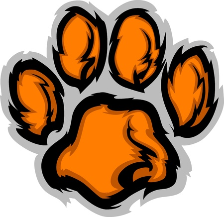 Tiger Paw grafico Mascot immagine vettoriale Vettoriali
