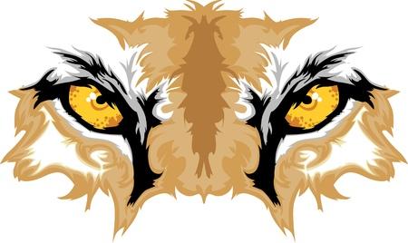 Imagen gráfica de la mascota del equipo de pumas ojos
