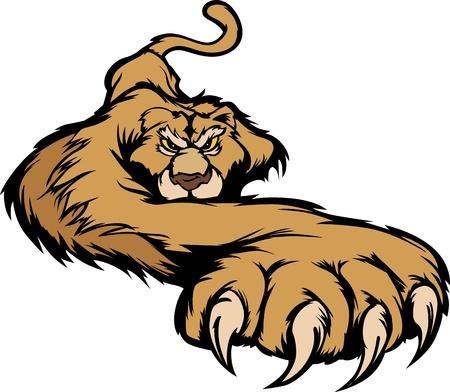 puma: Grafica Vector Image Mascotte di un organismo aggirarsi Cougar
