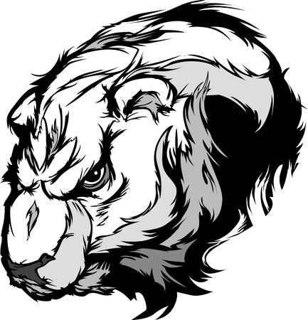 Cartoon  Mascot Image of a Polar Bear Head Vector