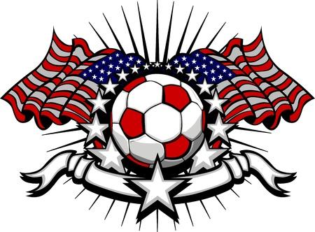 american flags: Stars and Stripes Patri�tica Imagen de F�tbol de Am�rica con banderas americanas
