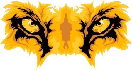 eyes: Graphic Team Mascot Afbeelding van Lion Eyes