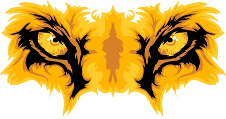 Graphic Team Mascot Image of  Lion Eyes
