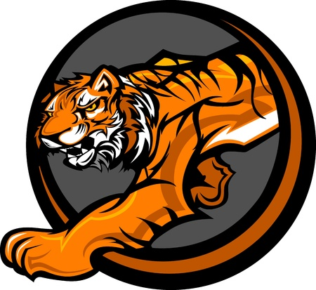 Graphic Mascot Vector Image of a Tiger Body Stock Vector - 11375508