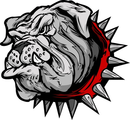 buldog: Dibujos animados de la imagen de un jefe Mascota Bulldog