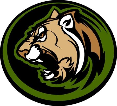 Grafische Mascot Afbeelding van een Cougar Body