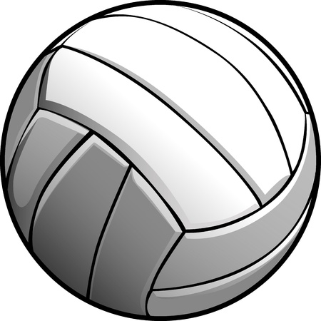 Vector Image of a Volleyball Ball Illustration