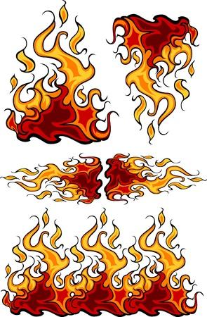 lángok: Tűz lángjai tüzes vektor