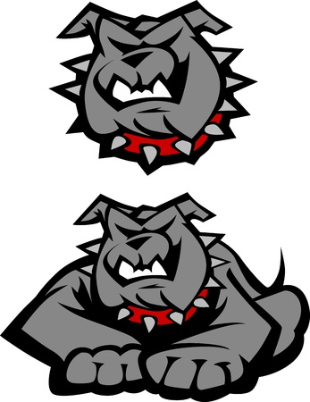 Graphic Vector Mascot Image of a Bulldog Body Vector