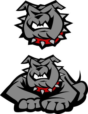 spikes: Vector Graphic imagen de la mascota de un organismo de Bulldog
