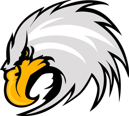 highschool: Graphic Mascot Vector Image of an Eagle Head