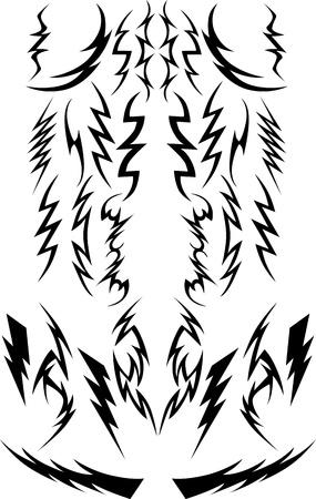 pernos: Imágenes vectoriales de una variedad de Relámpagos