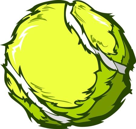 tenis: Tennis Ball Template Cartoon Vector Illustrations Illustration