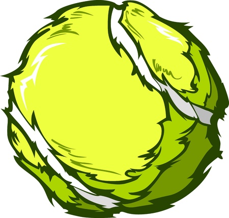 Tennis Ball Template Cartoon Vector Illustrations Vector
